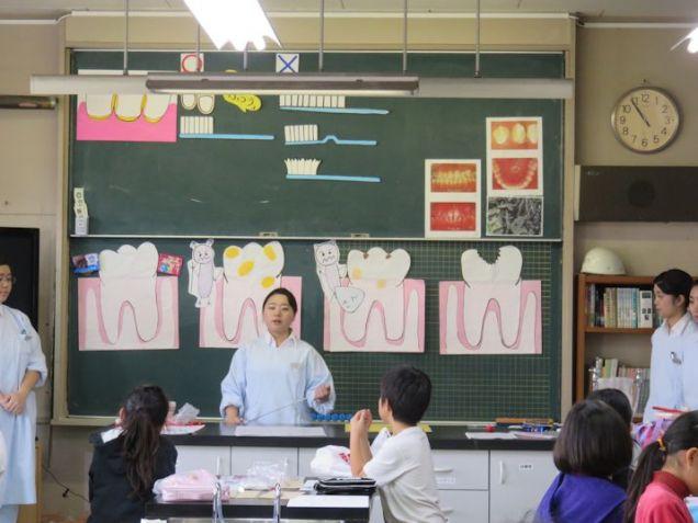 小学1年生~6年生の各学年ごとにテーマを決め、口の健康についての講話をします